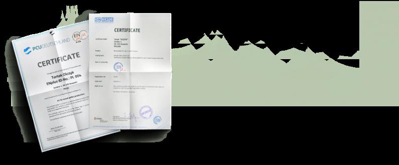 Výroba pelet Olczyk je pod neustálým dozorem technologů, a každá vyrobená šarže je podrobena laboratorním testům.